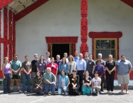 2011 American Fulbright grantees at Waiwhetū Marae during their orientation programme
