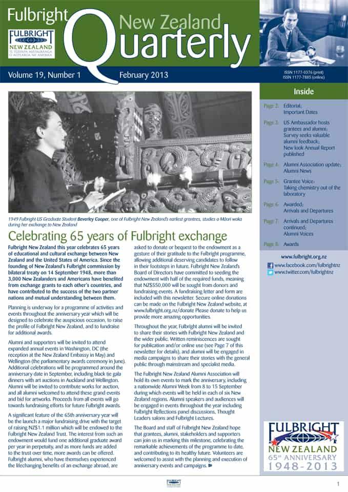 february fulbright quarterly newsletter online now