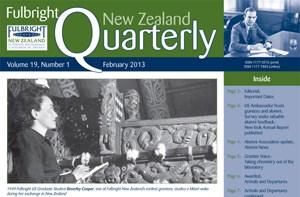 Fulbright New Zealand Quarterly, February 2013