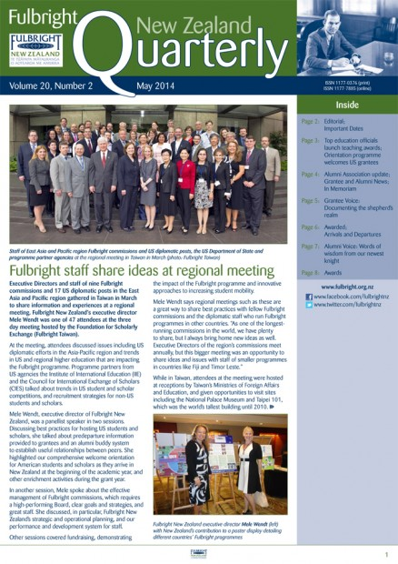 Fulbright New Zealand Quarterly, May 2014