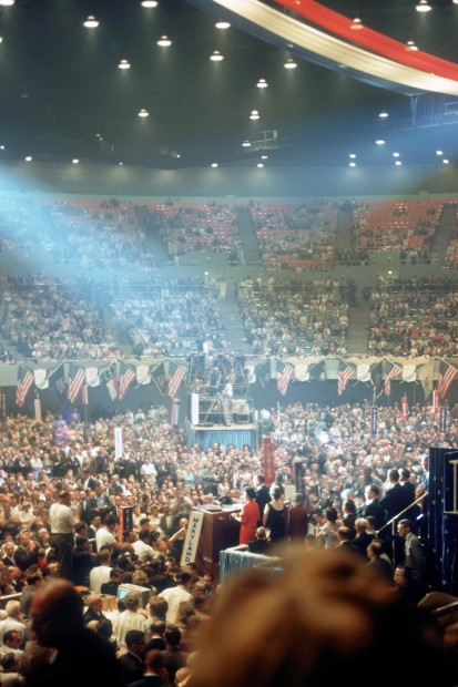 1960 Democratic Convention, LBJ at rostrum