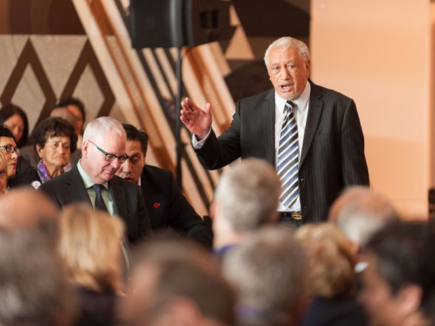 Sir Toby Curtis at the recent International Summit on the Teaching Profession in Wellington (photo: US Embassy New Zealand)