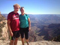 am Corbett-Davies and partner Sarah Poole at the Grand Canyon