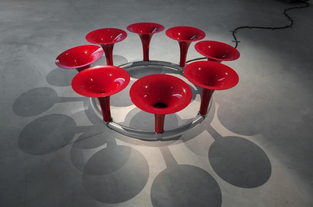 Phil Dadson's sound sculpture Octet